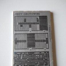 Libros de segunda mano: TEATRO LABORATORIO. JERZY GROTOWSKI.. Lote 243819655