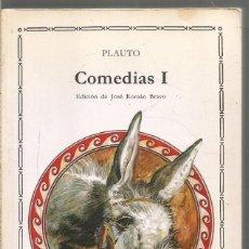 Libros de segunda mano: PLAUTO. COMEDIAS I. CATEDRA. Lote 244560195