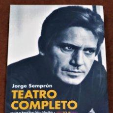 Libros de segunda mano: TEATRO COMPLETO JORGE SEMPRÚN. Lote 244649035