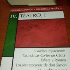 Libros de segunda mano: BIBLIOTECA PEMÁN. IV. TEATRO I. EST22B3. Lote 245360410