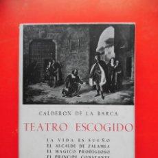 Libros de segunda mano: TEATRO ESCOGIDO. CALDERÓN DE LA BARCA. EDICIONES IBÉRICAS. BIBLIOTECA DE BOLSILLO. Lote 245374515