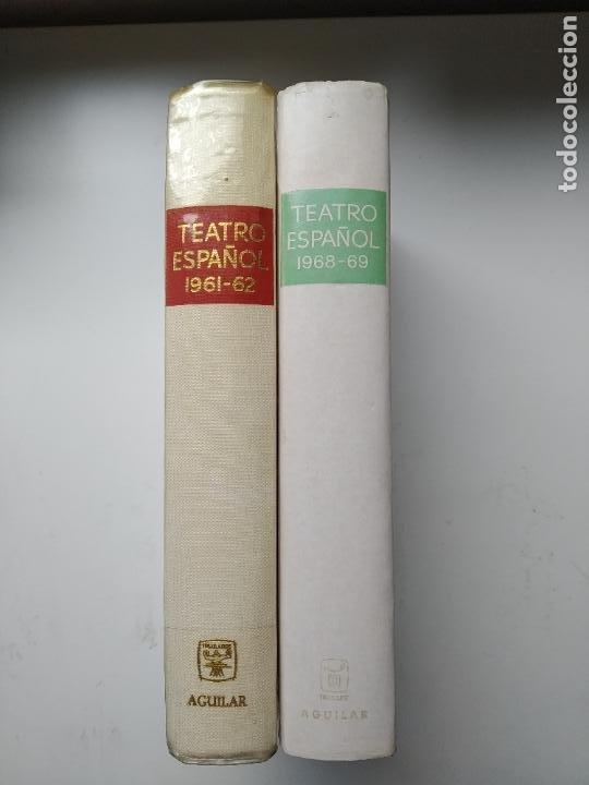 LOTE 2 LIBROS TEATRO ESPAÑOL 1961-62 / 1968-69 AGUILAR (Libros de Segunda Mano (posteriores a 1936) - Literatura - Teatro)