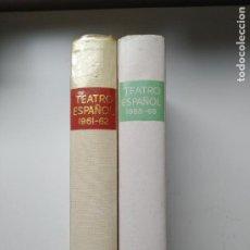 Libros de segunda mano: LOTE 2 LIBROS TEATRO ESPAÑOL 1961-62 / 1968-69 AGUILAR. Lote 246245160