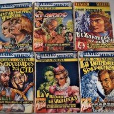 Libros de segunda mano: LOTE 6 PUBLICACIONES TEATRO SELECTO - ZORRILLA, MOLIERE, TIRSO DE MOLINA, RUIZ DE ALARCÓN,.... Lote 247326390