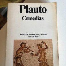 Libros de segunda mano: COMEDIAS DE PLAUTO. Lote 248402675