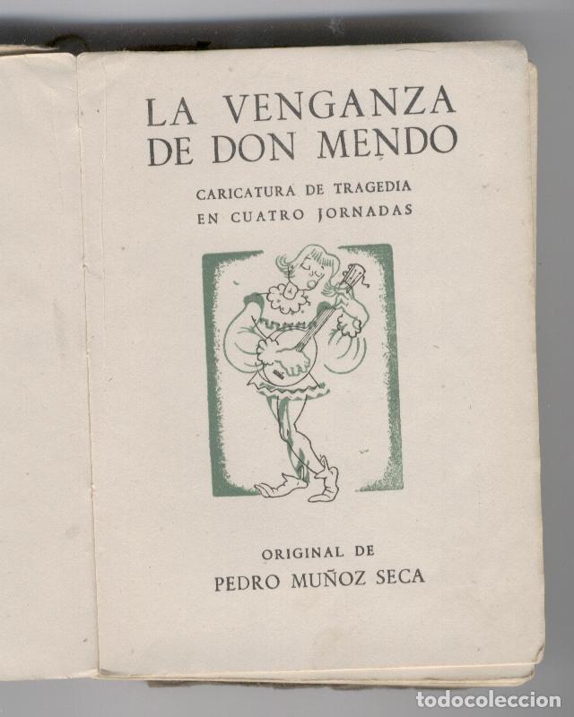 Libros de segunda mano: La venganza de D. Mendo. Pedro Muñoz Seca - Foto 2 - 248503760