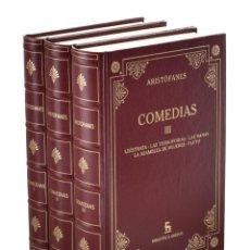 Libros de segunda mano: COMEDIAS, I-II-III (EDICIÓN COMPLETA EN 3 TOMOS) - ARISTÓFANES. Lote 253826980
