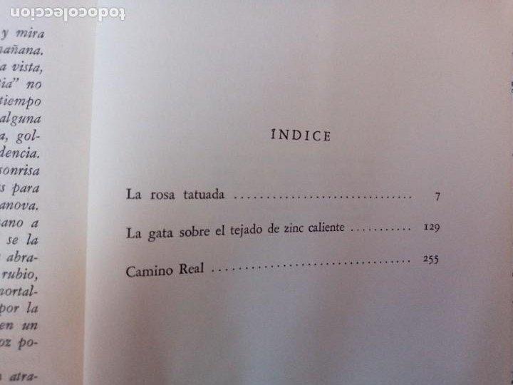 Libros de segunda mano: TRES DRAMAS. TENNESSEE WILLIAMS. SUDAMERICANA 1958. LA ROSA TATUADA. LA GATA SOBRE EL TEJADO DE ZINC - Foto 4 - 254001530