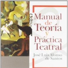 Libros de segunda mano: MANUAL DE TEORÍA Y PRÁCTICA TEATRAL.JOSÉ LUIS ALONSO DE SANTOS -NUEVO. Lote 254337225