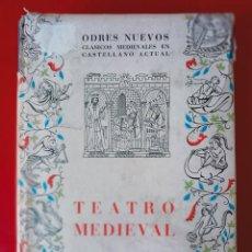 Libros de segunda mano: TEATRO MEDIEVAL / DR. D. FERNANDO LÁZARO CARRETER / EDI. CASTALIA / EDICION 1958. Lote 254431220