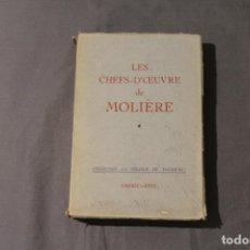 Libros de segunda mano: LES CHEFS-D'OEUVRE DE MOLIÈRE. TOMO I. TEXTO EN FRANCÉS.. Lote 260866155