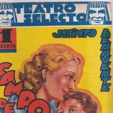 Libros de segunda mano: CAMPO DE ARMIÑO - JACINTO BENAVENTE - TEATRO SELECTO 1941. Lote 261548920