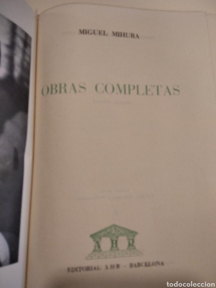 Libros de segunda mano: Obras completas, miguel mihura, piel, papel biblia - Foto 2 - 262009840