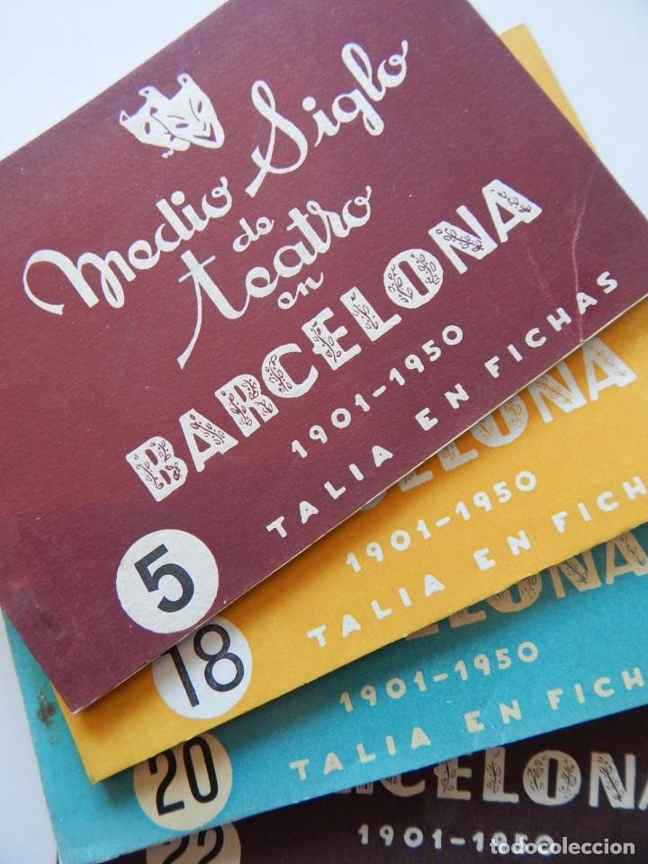 4 LIBROS / MEDIO SIGLO DE TEATRO EN BARCELONA 1901-1950 TALIA EN FICHAS / NÚMEROS: 5 - 18 - 20 Y 22 (Libros de Segunda Mano (posteriores a 1936) - Literatura - Teatro)
