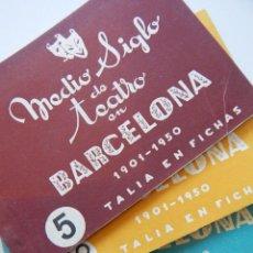Libros de segunda mano: 4 LIBROS / MEDIO SIGLO DE TEATRO EN BARCELONA 1901-1950 TALIA EN FICHAS / NÚMEROS: 5 - 18 - 20 Y 22. Lote 262260855