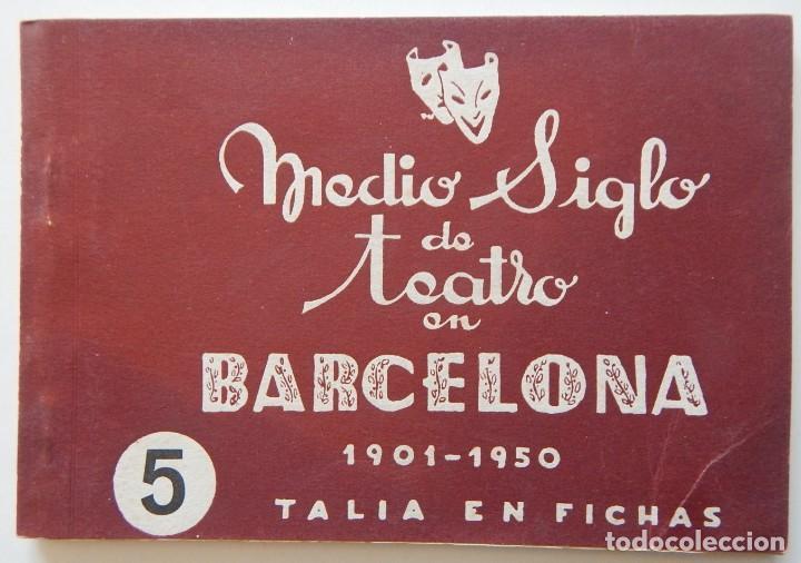 Libros de segunda mano: 4 Libros / Medio siglo de teatro en Barcelona 1901-1950 Talia en fichas / Números: 5 - 18 - 20 y 22 - Foto 2 - 262260855
