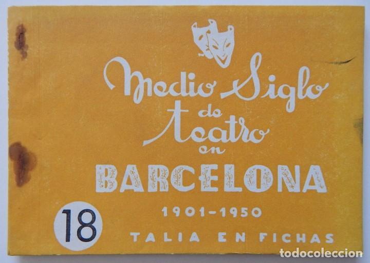 Libros de segunda mano: 4 Libros / Medio siglo de teatro en Barcelona 1901-1950 Talia en fichas / Números: 5 - 18 - 20 y 22 - Foto 8 - 262260855