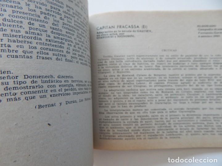 Libros de segunda mano: 4 Libros / Medio siglo de teatro en Barcelona 1901-1950 Talia en fichas / Números: 5 - 18 - 20 y 22 - Foto 12 - 262260855