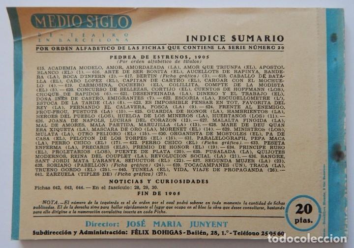 Libros de segunda mano: 4 Libros / Medio siglo de teatro en Barcelona 1901-1950 Talia en fichas / Números: 5 - 18 - 20 y 22 - Foto 15 - 262260855