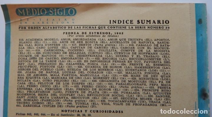 Libros de segunda mano: 4 Libros / Medio siglo de teatro en Barcelona 1901-1950 Talia en fichas / Números: 5 - 18 - 20 y 22 - Foto 16 - 262260855