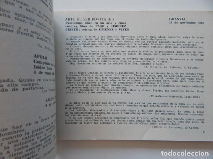 Libros de segunda mano: 4 Libros / Medio siglo de teatro en Barcelona 1901-1950 Talia en fichas / Números: 5 - 18 - 20 y 22 - Foto 17 - 262260855