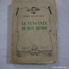 Libros de segunda mano: LA VENGANZA DE DON MENDO - PEDRO MUÑOZ SECA - 1942. Lote 262917540