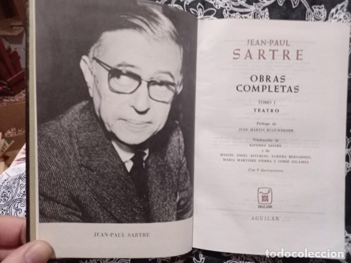 Libros de segunda mano: Jean Paul Sartre - Obras Completas - Tomo I - Teatro - Aguilar - 1970 - Foto 3 - 263004315