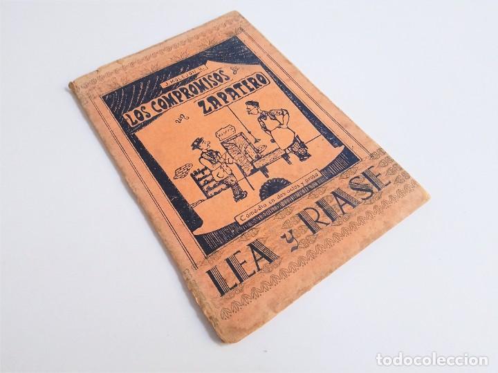 LOS COMPROMISOS DE UN ZAPATERO DE JOSÉ MOLEJON R. EDITORIAL CATÓLICA PALENSE 1ª EDICION 1954 (Libros de Segunda Mano (posteriores a 1936) - Literatura - Teatro)