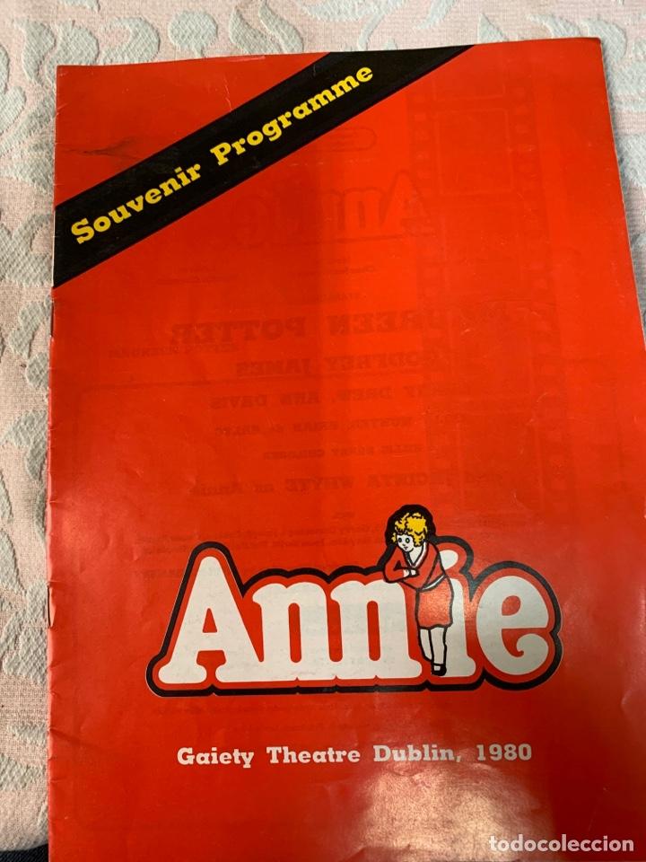 ANNIE,TEATRO DE DUBLÍN 1980 (Libros de Segunda Mano (posteriores a 1936) - Literatura - Teatro)