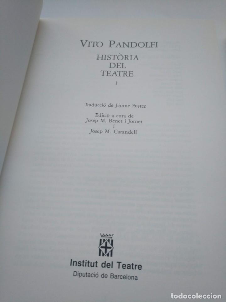 Libros de segunda mano: HISTORIA DEL TEATRE, VITO PANDOLFI - INSTITUT DEL TEATRE (BARCELONA) - 2 TOMOS - Foto 2 - 263766740
