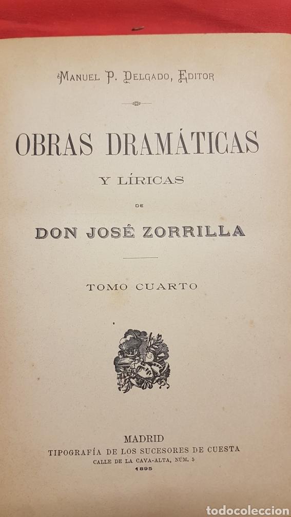 Libros de segunda mano: OBRAS DRAMÀTICAS Y LÍRICAS DE JOSÈ ZORRILLA.TOMO IV , MADRID 1895 - Foto 3 - 264148536