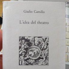 Libros de segunda mano: L' IDEA DEL THEATRO. A CURA DI LINA BOLZONI DELMINIO CAMILLO GIULIO. ED. SELLERIO, PALERMO 1991. Lote 268604044