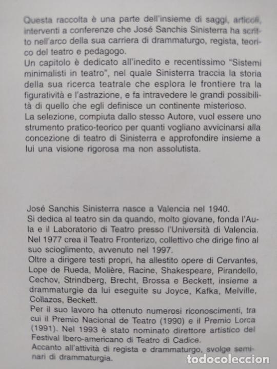 Libros de segunda mano: La scena senza limiti, Jose sanchis sinisterra, ed. Corsare, 2006 Very RARE - Foto 3 - 268611069