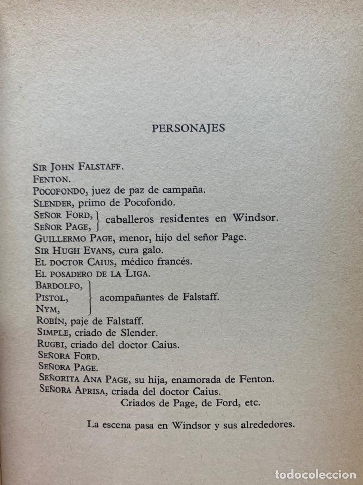 Libros de segunda mano: COMEDIAS II. W. SHAKESPEARE. CLUB INTERNACIONAL DEL LIBRO MADRID 1984. - Foto 8 - 269075253