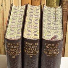 Second hand books: LOTE RESERVADO - TIRSO DE MOLINA OBRAS DRAMÁTICAS COMPLETAS - AGUILAR OBRAS ETERNAS. Lote 269264908