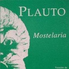 Libros de segunda mano: MOSTELARIA - PLAUTO EMILIO FLOR JIMENEZ. Lote 269733543
