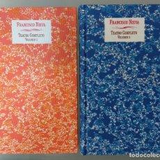 Libros de segunda mano: TEATRO COMPLETO. FRANCISCO NIEVA. JUNTA DE CASTILLA LA MANCHA, 1991. DOS VOLÚMENES.. Lote 270631063