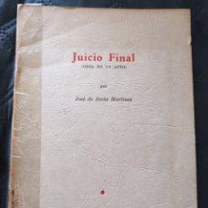 Libros de segunda mano: JUICIO FINAL. JOSE DE JESUS MARTINEZ. INSTITUTO NACIONAL DE PANAMÁ. 1962. Lote 274883833