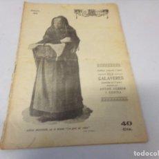 Libros de segunda mano: REVISTA LA ESCENA CATALANA ELS CALAVERES NUMERO 38. Lote 275146443