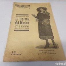 Libros de segunda mano: REVISTA LA ESCENA CATALANA EL GERMA DEL MESTRE NUMERO 50. Lote 275149253