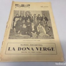 Libros de segunda mano: REVISTA LA ESCENA CATALANA LA DONA VERGE NUMERO 213. Lote 275150033
