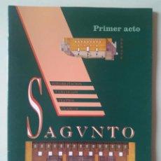 Libros de segunda mano: PRIMER ACTO. SAGUNTO. DEBATE REHABILITACIÓN Y USO DE LOS TEATROS CLÁSICOS 1993. Lote 276245503