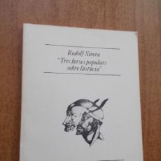 Libros de segunda mano: TRES FARSES POPULARS SOBRE L'ASTÚCIA- RODOLF SIRERA-TRES I QUATRE TEATRE Nº 19-CATALÁN. Lote 277195983