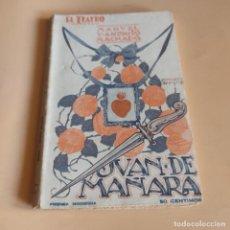 Libros de segunda mano: EL TEATRO MODERNO. MANUEL Y ANTONIO MACHADO. JUAN DE MAÑARA. 1927. PRENSA MODERNA. 70 PAGS.. Lote 277243443