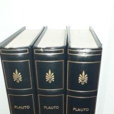 Libros de segunda mano: PLAUTO. COMEDIAS 3 TOMOS. BIBLIOTECA GREDOS. Lote 277264638