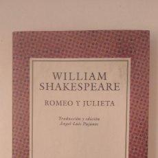 Libros de segunda mano: COLECCIÓN AUSTRAL Nº 317, ROMEO Y JULIETA - WILLIAM SHAKESPEARE - ED. ESPASA CALPE, 1993. Lote 277286693