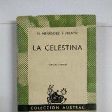 Libros de segunda mano: LA CELESTINA - M. MENÉNDEZ Y PELAYO. Lote 277291358