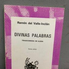 Libros de segunda mano: DIVINAS PALABRAS.RAMÓN VALLE INCLÁN.ESPASA-CALPE. MADRID 1920.. Lote 277436363