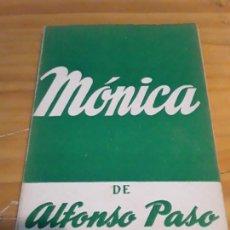 Libros de segunda mano: MONICA.ALFONSO PASO.EDICIONES ALFIL.COLECCION TEATRO N.178.1957.94 PAGINAS.. Lote 278758548
