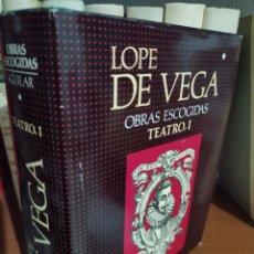 Libros de segunda mano: LOPE DE VEGA - OBRAS ESCOGIDAS TEATRO - TOMO I AGUILAR 1987. Lote 282263508